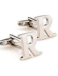 cheap -Men's Cufflinks Work Casual Brooch Jewelry Silver For