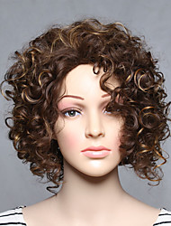 cheap -fashion synthetic wigs blonde curly style top quality wigs