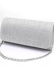 cheap -Women's Ruffles Polyester Evening Bag / Tri-fold Wedding Bags Stripes Black / Silver / Red
