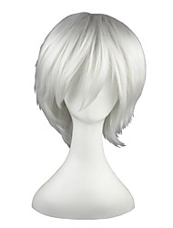 cheap -Synthetic Wig Straight Straight Wig 13cm(Approx5inch) White Synthetic Hair White