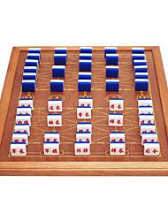 abordables -marines déplacer grande échecs militaire d'échecs marine mis solide emballage en bois planche de bord 3.4 or + acrylique panneau de