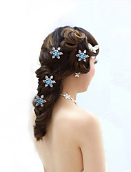 Недорогие -Заколки-пряжки Аксессуары для волос Циркон парики Аксессуары Жен. штук 1-5cm см