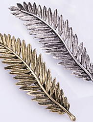 cheap -new retro metal feather hair clips han edition spring clip bang clip 2 pcs
