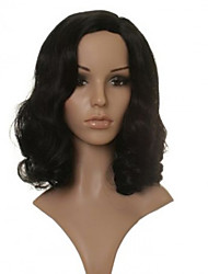 cheap -Synthetic Wig Wavy Wavy Wig Brown Synthetic Hair Women's Brown