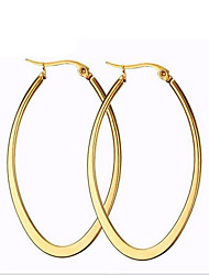 cheap -Women's Hoop Earrings Machete Fashion everyday 18K Gold Plated Titanium Steel Earrings Jewelry Golden For Party Daily Casual