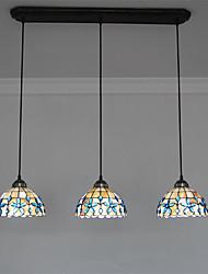 Недорогие -3-Light 20cm(8 Inch) Мини Подвесные лампы Металл Оболочка Прочее Тиффани 110-120Вольт / 220-240Вольт