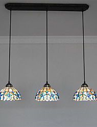 cheap -3-Light 76cm(29.9 inch) Mini Style Pendant Light Metal Shell Others Tiffany 110-120V 220-240V