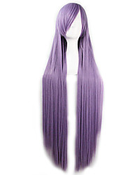 cheap -Cosplay Costume Wig Synthetic Wig Straight Straight Asymmetrical Wig Long Purple Synthetic Hair Women's Natural Hairline Purple