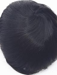 cheap -men's human hair toupee Super thin skin 0.06mm pu v loop natural headline pu thin skin men toupee