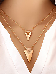 cheap -Women's Pendant Necklace Party Work Casual Fashion Gold Plated Alloy Gold Necklace Jewelry For Wedding Party Daily Casual