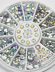 cheap -300pcs nail art tips crystal glitter rhinestone decoration wheel