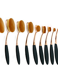 cheap -Professional Makeup Brushes Makeup Brush Set 10pcs Portable Eco-friendly Professional Synthetic Hair / Artificial Fibre Brush Plastic for Blush Brush Foundation Brush Lip Brush Eyebrow Brush