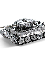 cheap -3D Puzzle Wooden Puzzle Metal Puzzle Tank Metal Boys' Girls' Toy Gift
