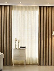 cheap -Designer Blackout Curtains Drapes Two Panels Living Room   Curtains / Jacquard