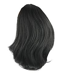 cheap -natural wave black europe hepburn human hair weaves ponytails 2