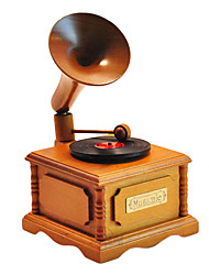 cheap -Wood Yellow/Brown Creative Romantic Music Box for Gift