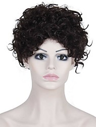 cheap -Synthetic Wig Curly Afro Curly Afro Wig Synthetic Hair Women's Black AISI HAIR
