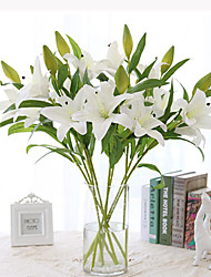 cheap -Artificial Flowers 1 Branch Simple Style Lilies Tabletop Flower