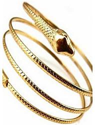 abordables -Manchettes Bracelets Femme Serpent Pas cher dames Personnalisé Européen Bracelet Bijoux Dorée Argent pour Mariage Soirée Quotidien Décontracté