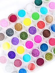 cheap -45pcs mix color nail art acrylic powder nail art decoration
