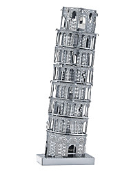 cheap -3D Puzzle Wooden Puzzle Metal Puzzle Leaning Tower of Pisa Metal Boys' Girls' Toy Gift