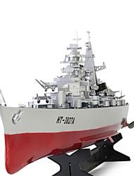 Недорогие -Лодка на радиоуправлении HT 3827A Военные корабли / Пульт дистанционного управления ABS 2 pcs каналы 20 km/h КМ / Ч Готов к полету Большой размер