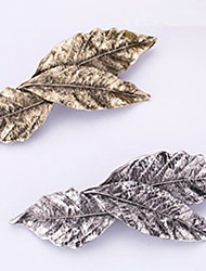 cheap -new retro metal 3 leaf hairpin han edition spring clip bang clip 2 pcs