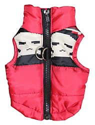 cheap -Cat Dog Coat Dog Clothes Skull Red Cotton Costume For Winter Men's Women's Keep Warm Fashion