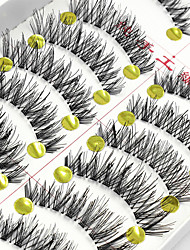 cheap -Eyelash Extensions False Eyelashes 20 pcs Lifted lashes Volumized Natural Fiber Full Strip Lashes Crisscross - Makeup Daily Makeup Party Makeup Cosmetic Grooming Supplies