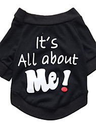 cheap -Cat Dog Shirt / T-Shirt Puppy Clothes Letter & Number Fashion Dog Clothes Puppy Clothes Dog Outfits Breathable Black Costume for Girl and Boy Dog Cotton XS S M L