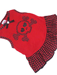 cheap -Dog Dress Dog Clothes Black / Red Costume Cotton XS S M
