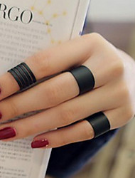 cheap -Band Ring Black Silver Love Ladies Personalized Unusual 3pcs One Size / Women's
