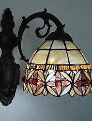 cheap -7 inch Retro Tiffany Wall Lights Shell Shade Living Room Bedroom light Fixture