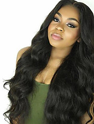 cheap -new unprocessed 10 30inch 100 brazilian human hair body wave lace front wig u part wig for women