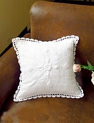 cheap -Pure White Eco-Friendly Cotton 100% Handmade 3D Flower Wedding Chair Decor