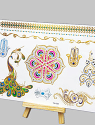 cheap -NEW Hot Stamping Fashion Safe Non-Toxic Large Size Hawaiian Peacock Totem Waterproof Tattoo Stickers