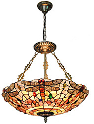 cheap -5-Light 50cm(20 Inch) Mini Style Pendant Light Metal Shell Inverted Others Tiffany 110-120V / 220-240V