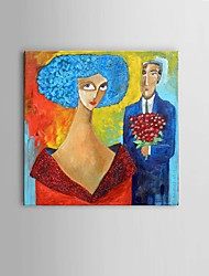 cheap -Oil Painting Hand Painted - Abstract / People / Fantasy Classic / Pastoral / European Style Canvas