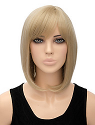 cheap -Synthetic Wig Straight Straight Bob Wig Blonde Short Blonde Synthetic Hair Women's Blonde