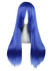 cheap -Fairy Tail Mayoi Hachikuji Cosplay Wigs Men's Women's 28 inch Heat Resistant Fiber Blue Anime