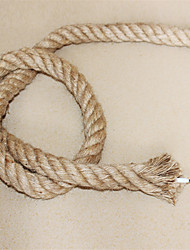 cheap -(10m/lot)2*0.75 Antique Double Braided Hemp Rope Electrical Wire Vintage Pendant Light Cord Knitted Lights Accessories