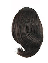 cheap -length wig dark chocolate short ponytail 25cm synthetic straight high temperature wire color 2 33