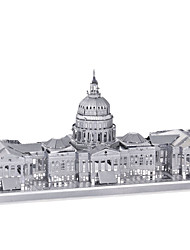 cheap -Jigsaw Puzzles 3D Puzzles / Metal Puzzles Building Blocks DIY Toys Metal Silver Model & Building Toy