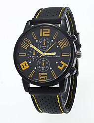 cheap -Men's Wrist Watch Quartz Silicone Black Casual Watch Analog Ladies Charm Fashion - Red Green Light Blue One Year Battery Life / Tianqiu 377