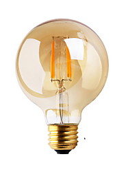 cheap -1pc 2 W LED Filament Bulbs ≥180 lm E26 / E27 G80 2 LED Beads COB Decorative Warm White 220-240 V / 1 pc / RoHS