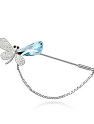 cheap -Women's Brooches - Crystal Butterfly, Animal Party Brooch Green / Blue / Pink For Wedding / Party