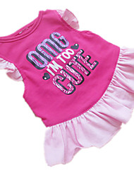 cheap -Dog Dress Dog Clothes Heart Letter & Number Rose Pink Cotton Costume For Summer
