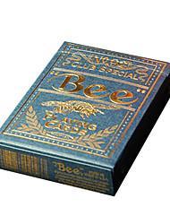 Недорогие -маточное ул. пчела пчела золота на заказ опрокидывание больших покерных карт горячей штамповки процесса синий (1 пара)