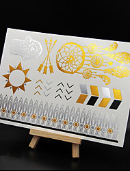cheap -NEW Hot Stamping Fashion Safe Non-Toxic Large Size Hawaiian Golden Totem Waterproof Tattoo Stickers