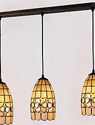 cheap -3-Light 55cm(21.7 inch) Mini Style Pendant Light Metal Shell Others Tiffany 110-120V 220-240V
